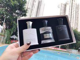 Neue Creed-Sets 30ml * 3 Creed Cologne Parfüm für Männer mit langanhaltendem High Duft Paris Flüssigspray Parfumes Weihrauchset. im Angebot