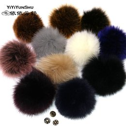 $enCountryForm.capitalKeyWord NZ - YIYIYUNSHU 14-16cm Whole skin Real Fox Fur Pompom fur Ball for Hats Caps Big Natural Genuine Pompon Ball For Hats Bags