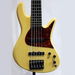 $enCountryForm.capitalKeyWord Australia - High cost performance  Empire Fretless 5 strings monarch Bass yellow Basswood body Maple neck Rosewood Fingerboard electric bass