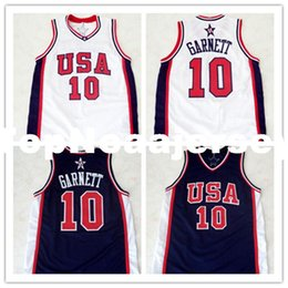 624b3f67e Cheap Mens  10 KEVIN GARNETT TEAM USA JERSEY NEW WHITE XXS - 6XL Retro  Basketball Jerseys custom all name and numbers stitched on