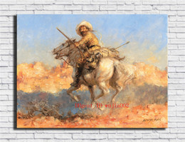framed mural painting Australia - Western Cowboy , Canvas Painting Living Room Home Decor Modern Mural Art Oil Painting