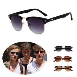 b3cd4da9ab Retro Fashion Half Frame Flash Mirror Lens Club Vintage Master Metal Frame  Rivet Women Sunglasses 100pcs OOA4829