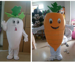 $enCountryForm.capitalKeyWord NZ - Adult size Carrot Mascot Costume Vegetable White Red Carrot Mascot Birthday Party Fancy Dress Free Shipping