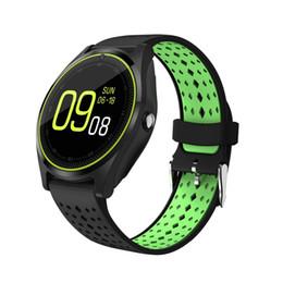 AlArm sim online shopping - V9 Smart Watch Men Women Android Smartwatch with Camera Alarm Clock Support Sim Card Bluetooth Wristwatch PK dz09