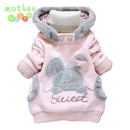 Cartoon Rabbit Hoodies Australia - Retail!New 2017 Children Clothing Cartoon Rabbit Fleece Outerwear girl fashion clothes  hoodies jacket,Children's hooded coat