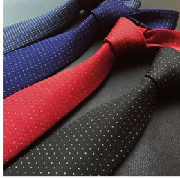 Free Suit Patterns NZ - Starry Pattern Men's ties set Long Size 146cm * 8cm Necktie navy blue Paisley Polyester Jacquard Woven neck Tie Suit Wedding
