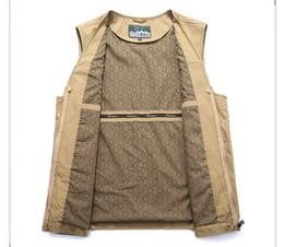 China 2018 New Promotion Chaleco Hombre Tactical Vest Vest Men's Multi-pocket Leisure Jacket Large Size Photography Thin Section 8xl Plus Size cheap large photography suppliers