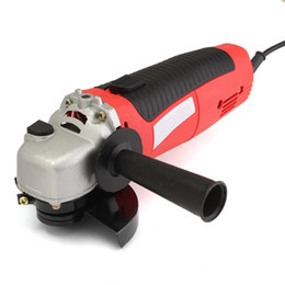 $enCountryForm.capitalKeyWord Australia - Freeshipping 11000 RPM Angle Grinder 4-1 2'' Electric Metal Cutting Tool Small Hand Held Red Power Tool High Quality
