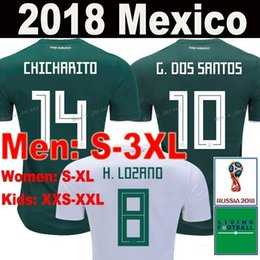 e74dd6e2c 2018 Thailand MEXICO SOCCER JERSEYS G.DOS SANTOS C.VELA Mexico home away  shirt CHICHARITO PERALTA 2019 World Cup man women football Jersey