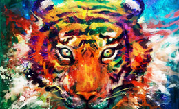 diamond painting round rhinestones NZ - 5d diy diamond painting tiger pictures full round embroidery animals mosaic art of rhinestones needlework decor home stickers