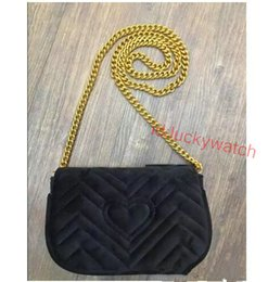 $enCountryForm.capitalKeyWord Canada - High quality Classic velvet Shoulder Bags gold chain Free shipping cross Body for women wallets handbags Clutch Bag shoulder totes bags