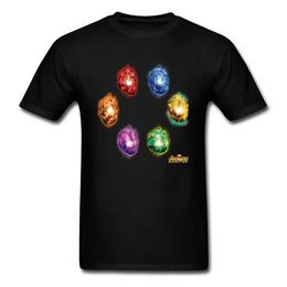 Stone men S clotheS online shopping - Infinity Stones T shirt Men Tops T Shirt Time Power Space Soul Reality Mind Tshirt d Tee Shirts Cotton Clothes Black