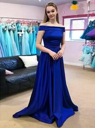1d479c5f91cb2d Royal Silks Australia - 2019 Royal Blue Mermaid Prom Dresses A Line Pleats  Floor Length Stain