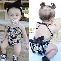 baby jumpsuit wholesale NZ - Baby Clothing 2018 Hot selling Rompers Jumpsuits Strapless Toddler Newborn Baby Girls Flower Print Rompers Jumpsuit Outfits Clothes Summer
