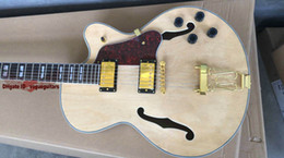 Metal Hollow Body Canada - new jazz Electric Guitar Custom hollow jazz Guitar in Natural color Metal Music free shipping