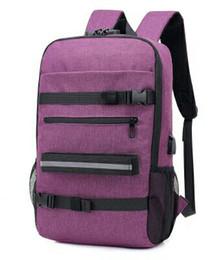 $enCountryForm.capitalKeyWord UK - Hot Sale New Fashion Trend Skateboard Bag Password Lock USB Multi-function Backpack Outdoor Leisure Travel Bag Student Bag(4 Colors)