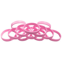 China CustomIzed 30 Pcs 8 inch BLANK Wristbands Bracelets Silicone Rubber Choose The Band Colors From PMS Card Sports Casual Bangles cheap wholesale rubber snakes suppliers