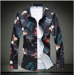 Shirt Korean Designs Australia - New Fashion Brand Camisa Masculina Long Sleeve Shirt Men Korean Slim Design Formal Casual Male Dress Shirt Size M-4XL