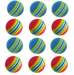 $enCountryForm.capitalKeyWord NZ - GOLDBALL EVA Golf Ball Rainbow Foam Sponge Practice Ball Indoor Golf Balls Toys Pack Of 12