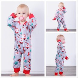 Santa Claus Girls Jumpsuit Australia - Christmas Baby Santa Claus Jumpsuits 2018 Infant Festival Clothing Toddlers Boys Girls Long Sleeves Bodysuits Baby Christmas Wear