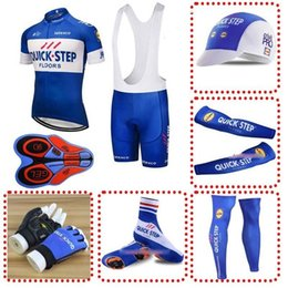 QUICK STEP team Cycling Jerseys Tour de France wear bike ropa ciclismo  Bicycle MTB 9D GEL pad full set cycling equipment 110701F 0724ae2a2