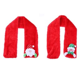 wholesale gifts homes UK - Christmas Santa Claus Scarf Costume Decorations Gift for Kids Children Adult Santa Claus Ornament Christmas Decoration for Home free shiping
