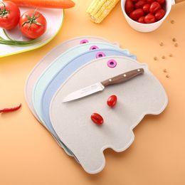 $enCountryForm.capitalKeyWord Australia - Wheat Stalk Chopping Board Anti Mildew Knife Block Baby Children Special Purpose Non Slip Elephant Shape 5 99zr V