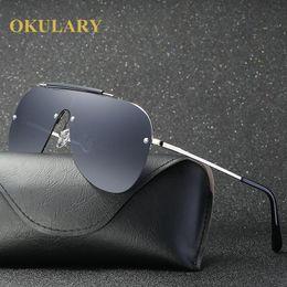 Unique Sunglasses Brands Australia - OKULARY Highest Quality Polarized Sunglasses Men Women Brand Designer Oversized Mirror lens Unique Frame Driving Sun Glasses