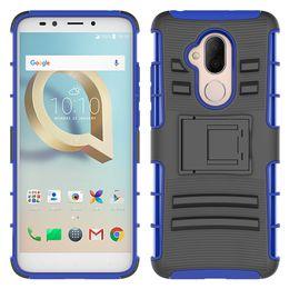 Phone Holder Lg G4 Australia - For LG V30 V30 Plus V30S ThinQ V35 ThinQ X Venture X Calibur LV9 K3 2017 G3 G4 G5 Hybrid Armor Case Soft TPU PC Kickstand Holder Phone Cover
