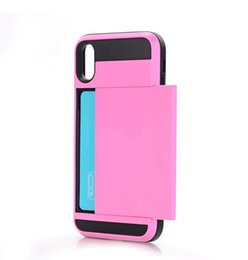 Phone oPtions online shopping - Fast shipping For samsung galaxy note case muliti color options Sliding card slot mobile case shockproof hybrid tpu pc phone case