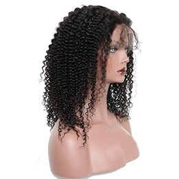 $enCountryForm.capitalKeyWord NZ - Best 10A Kinky Curly Brazilian Hair Human Hair Full Lace Front Wigs 180 Density Wholesale Human Hair Wigs For Black Women Hot Selling