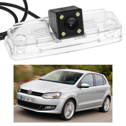 Discount rear view camera ccd vw - New 4 LED Car Rear View Camera Reverse Backup CCD fit for VW Polo 2010-2014 11 12 13