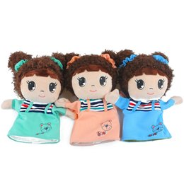 cute puppets UK - 1 PC New Design Fashion Cute Classic Children Cartoon Doll Hand Puppet Toys Kids Doll Soft Plush Kids Gifts