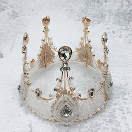 Cake Crowns online shopping - 2019 New Cake Toppers Decorations Retro Crystal Crown Shaped Girls Princess Birthday Cake Tools Baked Dessert Favors Hot Selling