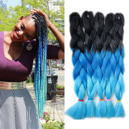 xpression kanekalon braiding hair ombre Australia - Three Colors Ombre Synthetic Xpression Braiding Hair 24 inches 100g pack Jumbo Crochet Braids Hair Kanekalon Xpression Braiding Hair