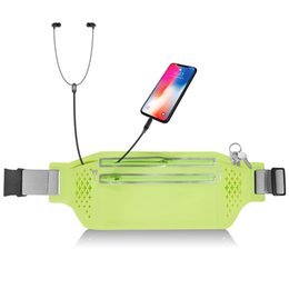 $enCountryForm.capitalKeyWord UK - Outdoor Running Waist Belt Bag Sweat-proof Armband Sport Case Mobile Phone Holder Jogging Belt Pack Men Women Gym Fitness Bag