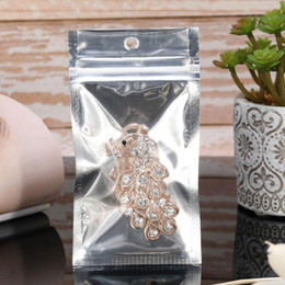 Discount clear mobile phone cases - Silver Clear Zipper Plastic Retail Package Bag For Earphone Phone Case Mobile Cover Seal Zipper Packaging Bag QW8759