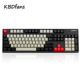 Vente en gros Ducky filco PBT 108 couleur Keycaps casquette de clé pour la cerise / ANSI Clavier Keycap de couleur mécanique