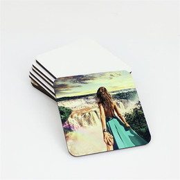 China sublimation coaster for customized gift MDF Coasters for dye sublimation square shape hot transfer printing blank consumables suppliers