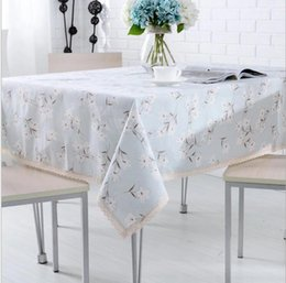 rectangular linen tablecloth Canada - 2018 Pastoral tablecloths Small fresh Cotton linen tablecloths Living room thickened fabric rectangular Tea tablecloths Factory outlets