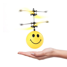 $enCountryForm.capitalKeyWord NZ - RC Flying Ball Dron Face Expression Helicopter Colorful LED Lighting Flashing RC Drone Infrared Induction Flying Toys for Kids