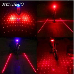 Discount bicycle laser beam - New 5 LED Laser Beam MTB Mountain Bicycle Bike Rear Tail Warning Lamp Light