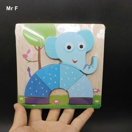 Gadgets For Fun NZ - Fun Game Elephant Wooden Jigsaw Gift Toys For Kids Education And Learning Puzzles Teaching Prop Gadget