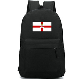 leisure outdoor sports canvas bag UK - Northern Ireland backpack Flag style day pack National banner school bag Leisure packsack Good rucksack Sport schoolbag Outdoor daypack