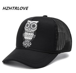 da8053c697b Fashion Unisex Cotton Owl Classic Trucker Mesh Baseball Cap Snapback Hat  Vintage Women Men Gorras Sun Hip Hop Hat Baseball Cap
