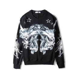 $enCountryForm.capitalKeyWord UK - 2018 new top Autumn winter Hand-painted graffiti abstract line pentagram printing Men women Fashion brand kanye west Hoodies Sweatshirts