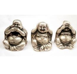 $enCountryForm.capitalKeyWord Australia - Free shipping NEPAL TIBETAN Buddhist silver 3 NO happy buddha statues