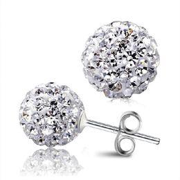 $enCountryForm.capitalKeyWord UK - New Women's Fashion Girls Trending Rhinestone CZ Flower Bud Ball Stud Earrings