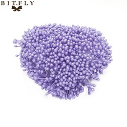 China rtificial flowers 1600pcs 6cm mini diy pearl Artificial Flower Stamen Floral Buds pistil Double heads tips Wire Pearl Craft Cake decorati... cheap bud lights suppliers