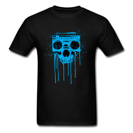 $enCountryForm.capitalKeyWord UK - Skull Radio Tshirt 100% Cotton Clothes For Men Hip Hop Printed T-shirts Unique New Coming O Neck Tops Tees Short Sleeve